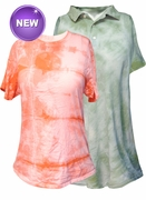 FINAL SALE! Tie Dye Classic Light Colors Polo Style Shirt and T-Shirts L XL 2XL 3XL