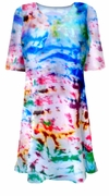 SALE! Color Splash Tie Dye Plus Size T-Shirt XL 2x 3x 4x 5x 6x