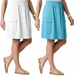 SALE! White or Light Teal Cover Up Canvas Plus Size Skirt 3x 4x