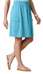 NEW! White or Turquoise A-Line Cargo Style Plus Size Skirt 3x 4x