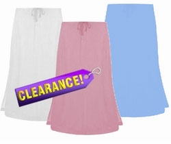 FINAL SALE! White, White Or Pink Demin Plus Size Mid Length Skirt 3x