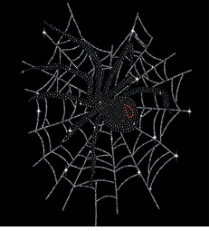 Black Widow Spider In Web Sparkly Rhinestuds Plus Size & Supersize T-Shirts S M L XL 2x 3x 4x 5x 6x 7x 8x 9x (All Colors)