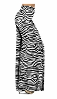 Zebra Stripes Print Slinky Special Order Customizable Plus Size & Supersize Pants, Capri's, Palazzos or Skirts! Lg to 9x