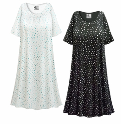 SALE! Customizable Hearts Print Plus Size & SuperSize Muumuu - Moo Moo Dress 0x 1x 2x 3x 4x 5x 6x 7x 8x 9x