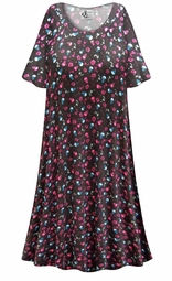 SALE! Customizable Skulls N' Roses Print Plus Size & SuperSize Muumuu - Moo Moo Dress 0x 1x 2x 3x 4x 5x 6x 7x 8x 9x