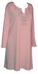 Pink Rhinestone Plus Size & Supersize Extra Long Shirts 0x 1x 2x 3x 4x 5x 6x 7x
