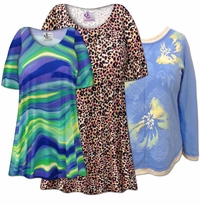 Plus Size Casual Tops Tunics & Blouses 0x to 9x