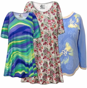 <font size=4><i>Casual</i><br><font size=3>Plus Size & Supersize<br>Tops, Blouses, Tunics<br>0x to 9x</font>