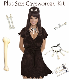 SALE! Plus Size Cave Woman Costume & Accessories! Plus Size & Supersize Halloween Costume + Kit 0x 1x 2x 3x 4x 5x 6x 7x 8x 9x