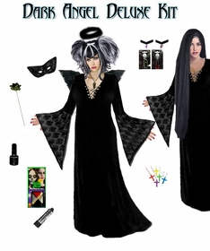 Plus Size Dark Angel Costume / Plus Size Dark Fairy Costume Supersize Dark Angel Fairy Costume Kit! Lg to 9x SALE!