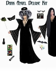 SALE! Plus Size Dark Angel Costume / Plus Size Dark Fairy Costume Supersize Dark Angel Fairy Costume Kit! Lg to 9x SALE!