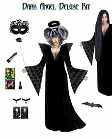 SALE! Plus Size Dark Angel Costume / Plus Size Dark Fairy Costume Supersize Dark Angel Fairy Costume Kit! Lg XL 1x 2x 3x 4x 5x 6x 7x 8x 9x SALE!