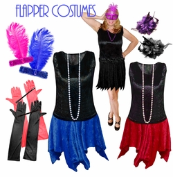 1920's Flirty Flapper Roaring 20's Plus Size Costumes