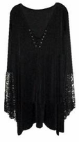 SALE! Plus Size Gothic Witchy Bell Sleeve Extra Long Shirt Supersize Halloween Costume
