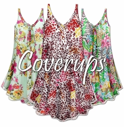 Plus Size Swimsuit Cover-Up's Plus Size & Supersize 0x to 9x
