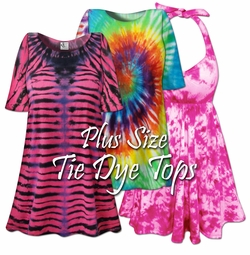 Tie Dye T-Shirts<br>(Short Sleeve/Long Sleeve/Tanks)<br>Plus Size & Supersize 0x to 9x