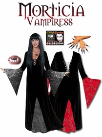 Plus Size Vampire Costume - Plus Size Vampiress Morticia Costume - Plus Size & Supersize Gothic Halloween Costumes Lg XL 0x 1x 2x 3x 4x 5x 6x 7x 8x 9x