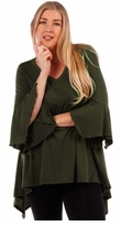 SALE! Solid Color Top with Bell Sleeves Plus Size 4x 5x 6x