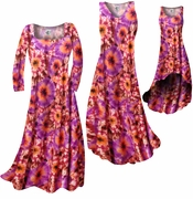 SALE! Red, Orange & Purple Tye Dye Bursts Slinky Print Plus Size & Supersize A-Line Dresses 4x