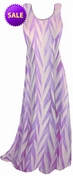 SALE! Opalescent Purple Zebra Slinky Print Princess Cut Slinky Plus Size Tank Dress 1x