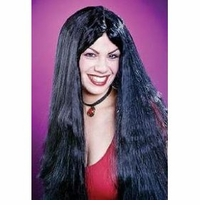 """SALE!  25"""" Black Witch Wig Halloween Costume Accessory Black Wig"""