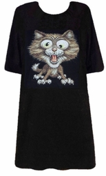 SALE! Adorable Crazy Kitty Cat! T-Shirt 6xl 6x Plus Size & Supersize! S M L XL 2x 3x 4x 5x 6x 7x 8x Plus Size & Supersize