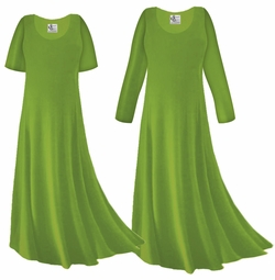 CLEARANCE! Avocado Slinky Plus Size & Supersize Sleeve Dress 6x