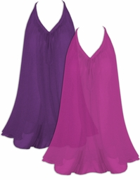 SALE! Beautiful Fuchsia or Dark Purple Semi Sheer A-Line Overshirt Supersize & Plus Size Tops 4x 6x 8x