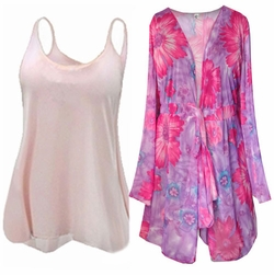 SALE! Sale! Beautiful  Sheer 2pc Blouse Set or 1pc Swimsuit Coverup! - Many Colors & Prints in Plus Size & Supersize xL 3x 4x 8x