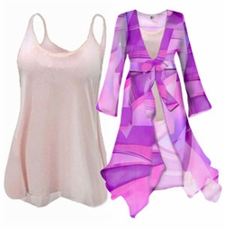 SALE! Beautiful Sheer 2pc Blouse Set or 1pc Swimsuit Coverup! - Many Colors & Prints in Plus Size & Supersize xL 3x 4x 8x