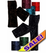 SALE! Beautiful Shimmering Crush Panne Velvet Petite or Tall Customizable Plus Size & Supersize Tapered or Pallazo Pants Black - Burgundy - Navy - Green - Brown - Turquoise - Red 0x 1x 2x 3x 4x 5x 6x 7x 8x