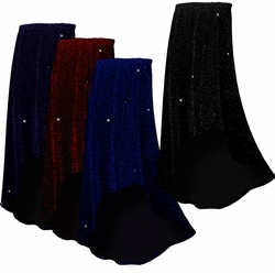 SALE! Beautiful Shimmering Glimmer Long Flowing Plus Size Hi-Low Cascading Skirt 1x 2x 3x 4x 5x 6x 7x 8x 9x