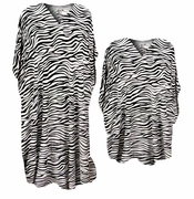 SALE! Beautiful Zebra Stripes Animal Print Poly/Satin Plus Size & Supersize Caftan Dress