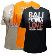 FINAL SALE! Just Reduced! California Cali Love With Bear Plus Size T-Shirt XL* 2XL* / Black - Off-White - Orange