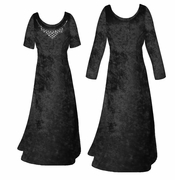 SALE! Black Crush Velvet Plus Size & Supersize Sleeve Dress LG 1x 5x 6x