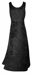 SALE! Black Crush Velvet Plus Size & Supersize Tank Dress 4x