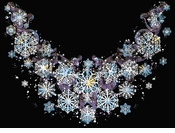 SALE!!! Just added!!! Black - Navy - Green or Royal Pretty Snowflake Neckline Plus Size & Supersize T-Shirts 5XL