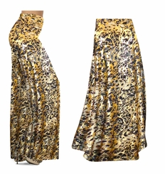 CLEARANCE! Black Ornate With Gold Metallic Slinky Print Special Order Plus Size & Supersize Pants, Capri's, Palazzos or Skirts! 0x
