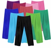 CLEARANCE! Poly/Cotton Plus Size & Supersize Straight, Long Tapered or Capri Pants 0x 1x 2x 3x 6x 7x 8x