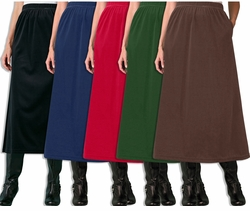 SALE! Black, Red, Brown, Evergreen, or Navy Velvet Plus Size Skirt 3x 4x 5x