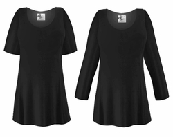 CLEARANCE! Black Slinky Plus Size & Supersize Shirt  0x 1x 2x 5x