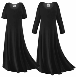 CLEARANCE! Black Slinky Plus Size & Supersize Sleeve Dress 0x 1x 2x