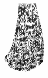 SALE! Black & White Ink Blots Slinky Print Plus Size & Supersize Skirts - Sizes Lg to 9x