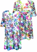 CLEARANCE! Bright Meteorite Showers Tie Dye Plus Size T-Shirt 5xl 6xl