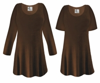 CLEARANCE!  Brown Slinky Plus Size & Supersize Shirt XL