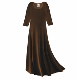 CLEARANCE! Brown Slinky Plus Size & Supersize Sleeve Dress XL