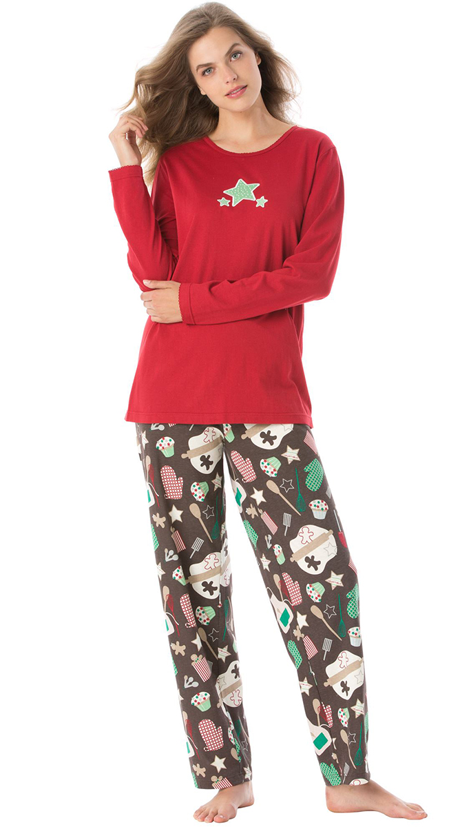 SALE! Chocolate Cookies Pajamas! Plus Size knit PJs 5x