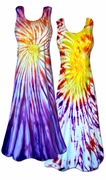 SALE! Colorful Sunrise / Sunset Tie Dye Princess Cut Tank Plus Size Supersize Dress 1x 2x 3x 4x 5x 6x 8x
