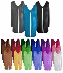FINAL SALE! Comfy and Casual Solid Colors Plus-Size Slinky Tie Duster Jacket xL 2x