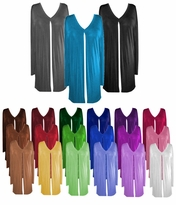 CLEARANCE! Comfy and Casual Solid Colors Plus-Size Slinky Tie Duster Jacket 1x 2x 6x